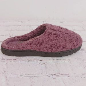 Clarks Cable Knit Clog Purple Sz 8 Outdoor Indoor